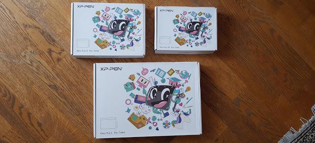 unboxing tablette graphique xp-pen deco fun