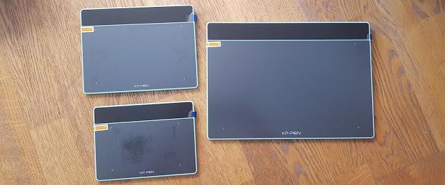3 tablettes graphiques xp-pen deco fun