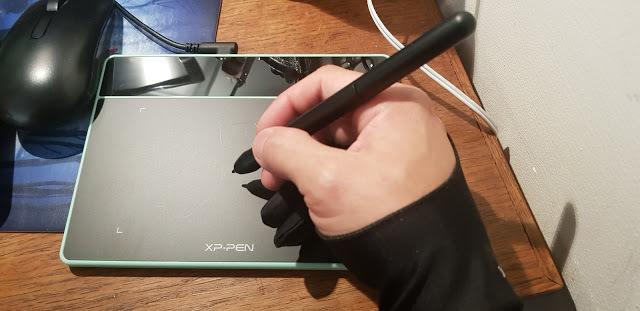 dessiner dans tablette graphique xp-pen deco fun