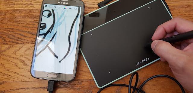 dessiner sur tablette xp-pen deco fun avec samsung smartphone
