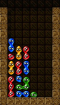 速攻キープの左折り返し、青2個が遠ければ底上げして緑で折り返すことも