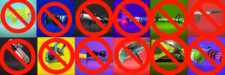 スプラトゥーン2イベント 上位tier武器禁止杯 画像